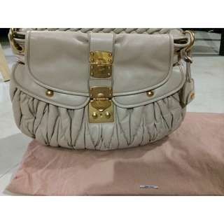 BN Miu Miu Leather Coffer Bag