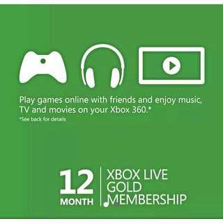 Xbox Live 12 Months Code