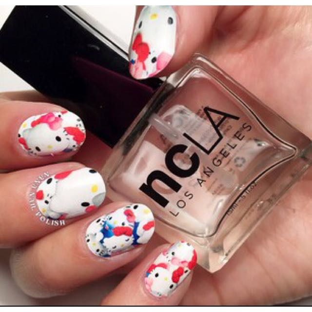 7f03ab8d9 ncla x hello kitty nail wraps + nail file, Women's Fashion on Carousell