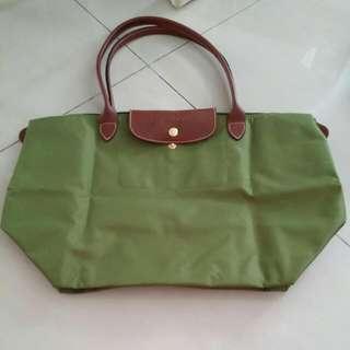 Preloved Longchamp Le Pliage Green