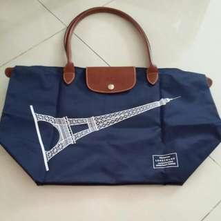 (Reserved) Preloved Longchamp Le Pliage Bag Navy Blue