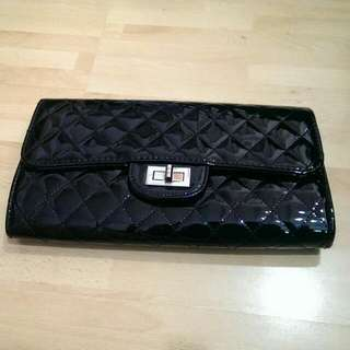 Party/Dinner Clutch Bag (Black) with Sling