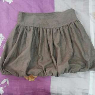 Brown Bubble Skirt