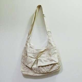 Authentic Beige Cream LeSportsac Big Sling Bag