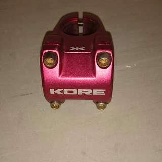 Red Anodized Oversize KORE 42.5mm Stem *RESERVED*
