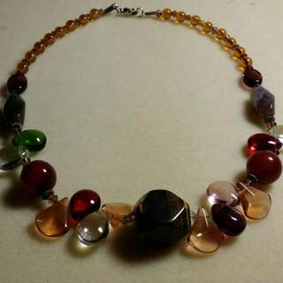 Fanciful Brown Stone Necklace
