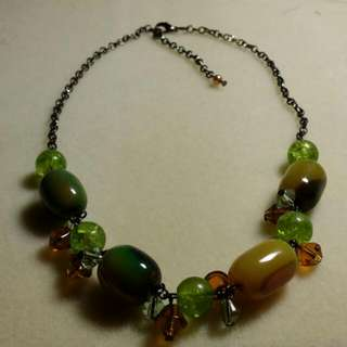 Fanciful Green stone Necklace