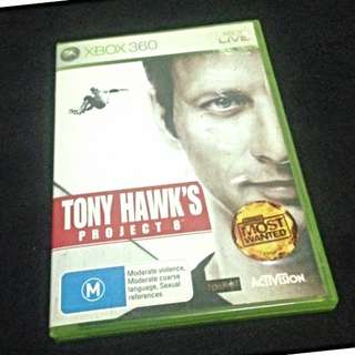X Box 360 game: Tony Hawk's Project 8