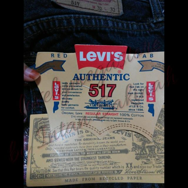 🔖Adhoc- BNIP WITH TAG LEVI'S 517 JEAN DARK COLOR