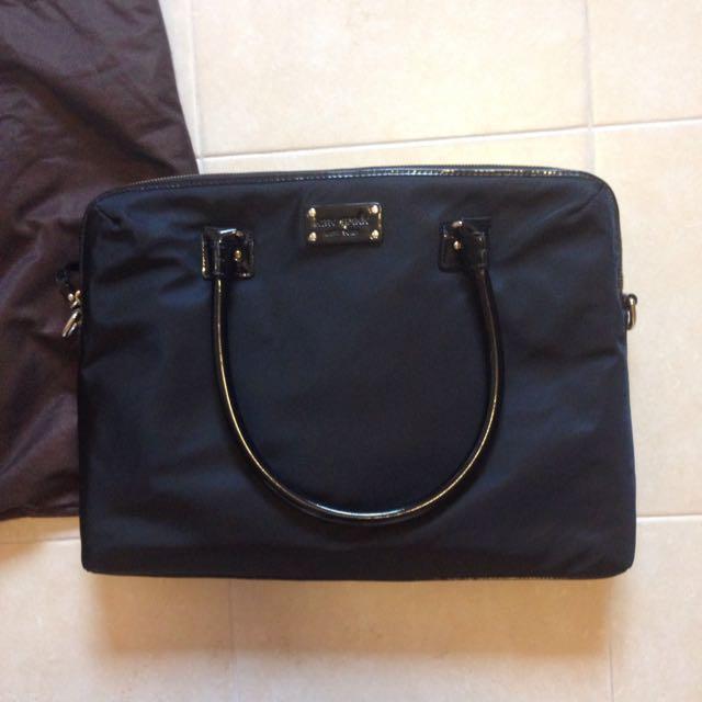 Kate Spade Black Laptop Bag With Detachable Cross body Strap