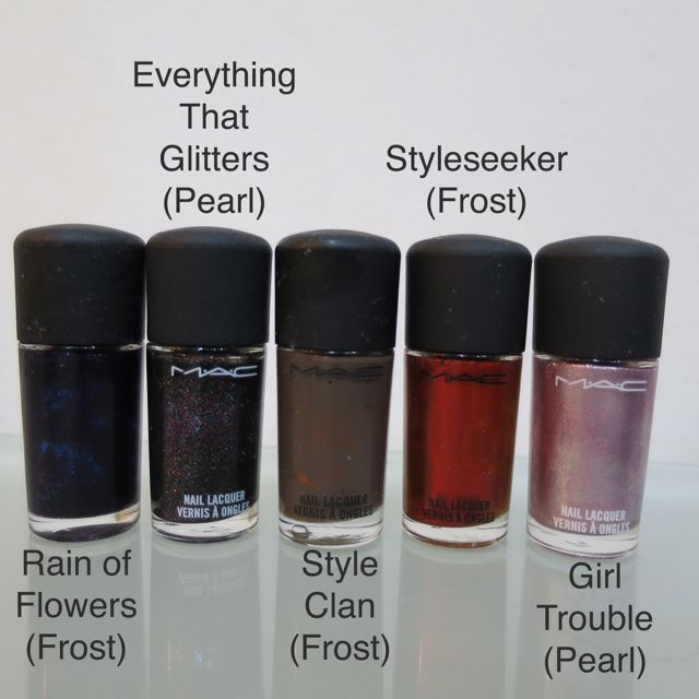 MAC Nail Lacquer (Frost and Pearl finish), Health & Beauty on Carousell