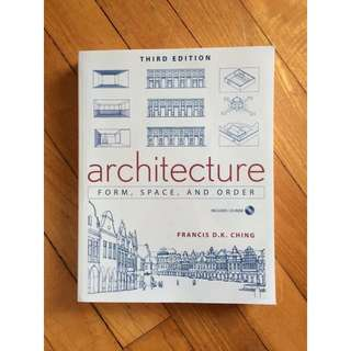 *Pending For Meetup* Architecture: Form Space & Order By Francis Ching
