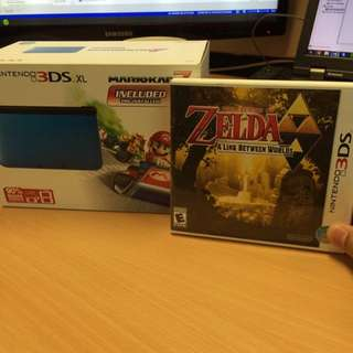 3DS XL Mario Kart 7 Plus Zelda