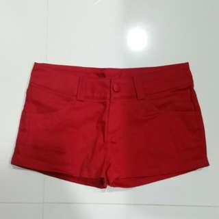 Red Color Short