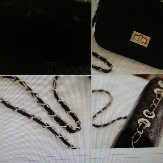 7e33625bb10c Leather Cute Mini Cross Body Chain Shoulder Bag.