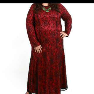 Pre Loved Red Lace Dress