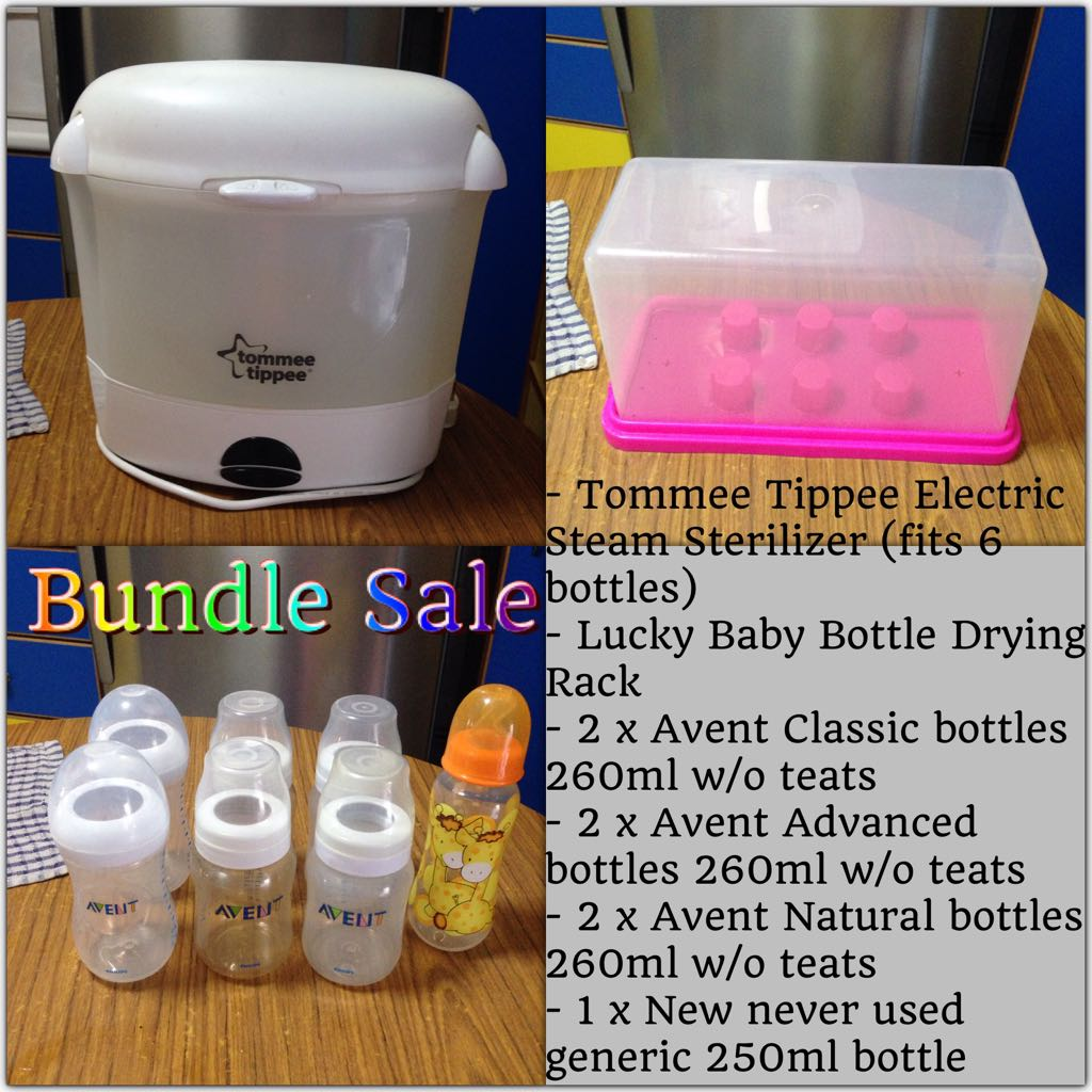 Bundle Avent Bottles Tommee Tippee Sterilizer Lucky
