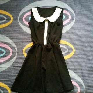 White Collar Black Dress