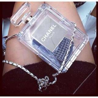 Chanel Clear Tote Bag (black)