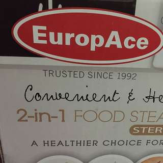 EuropAce 2-in-1 Food Steamer with Sterilizer