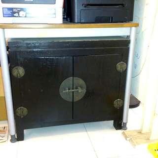 Black Antique Replica Cupboard -Korean