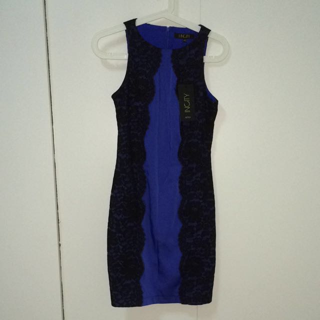 BN Royal Blue Lace Dress