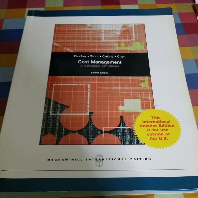 Cost Management by Blocher, Stout, Cokins,  Chen