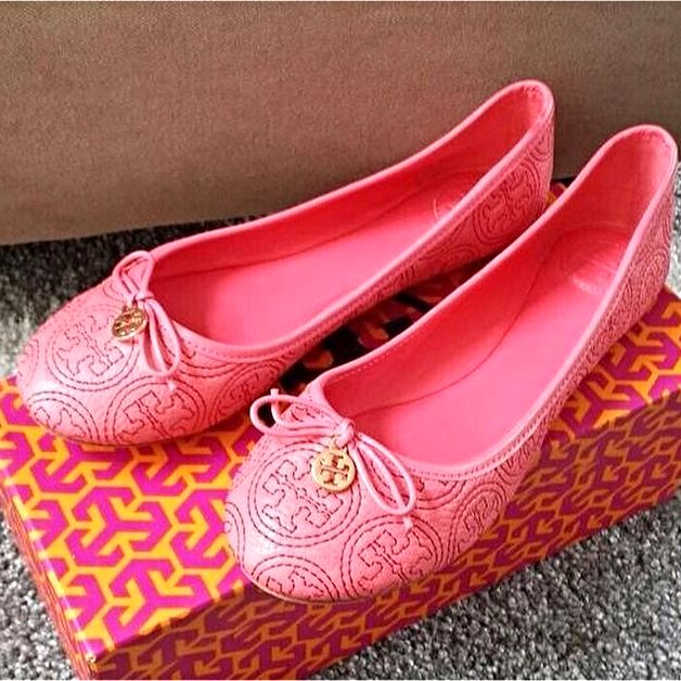 Tory Burch Pink Flat Shoes