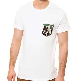 WeSC Pachira Pocket Tee in Old White