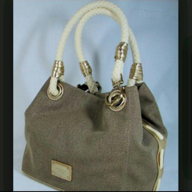 Reserved Authentic Michael Kors Marina Grab Bag Canvas Tote