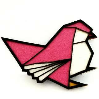 Origami Bird Brooch