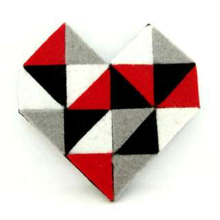 Geometric Heart Brooch I