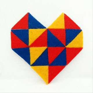 Geometric Heart Brooch II