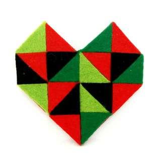 Geometric Heart Brooch III