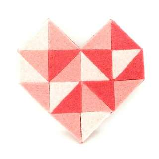 Geometric Heart Brooch V
