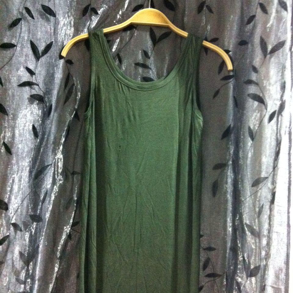 Army Green Bodycon Maxi Dress