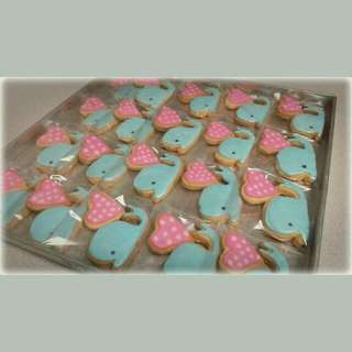 I Whale-ly Love You! Whale And Heart Cookies
