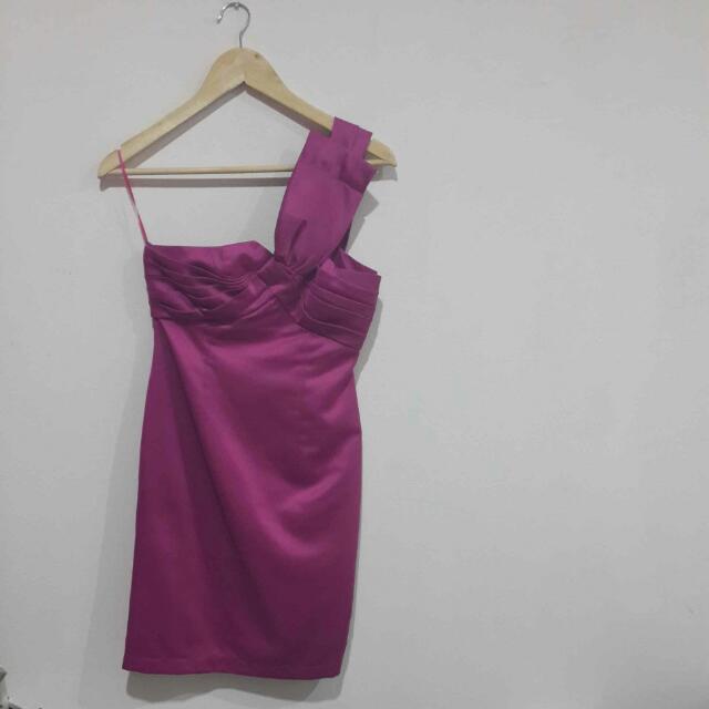 One-shoulder Body And Soul Violet Dress