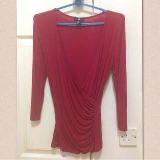 H&M Red Top Used Once Size xs