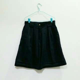Vintage Black Culottes