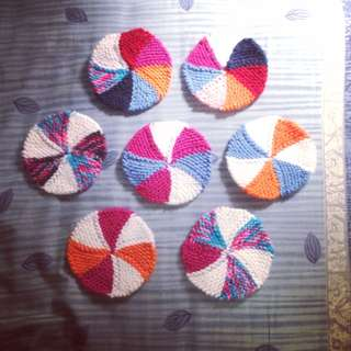 [PO] Knitted Colourful Coaster