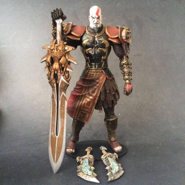 RESERVED NECA God of War with Ares armor, sword of Olympus, Blades of  Athena and display base