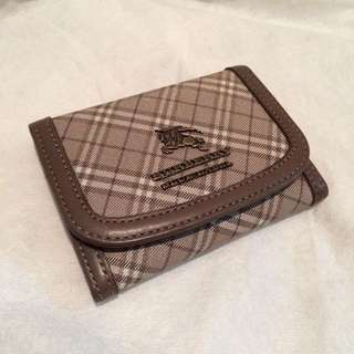 Authentic Burberry blue label cardholder