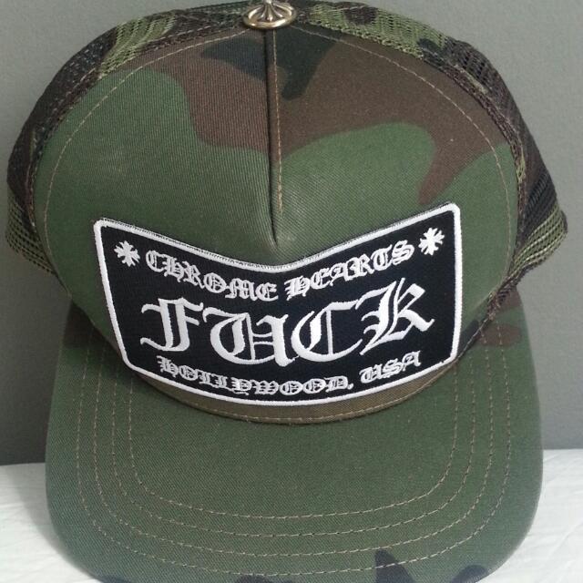 35fb964d893 Authentic Chrome Hearts CH Horse Shoe Trucker Cap Hat