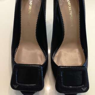 (Reduced 190 Nett) Emporio Armani Black Leather Pumps Sz39 , BNIB, Bought $890, No Trade