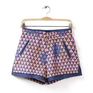 Printed Embossed Shorts