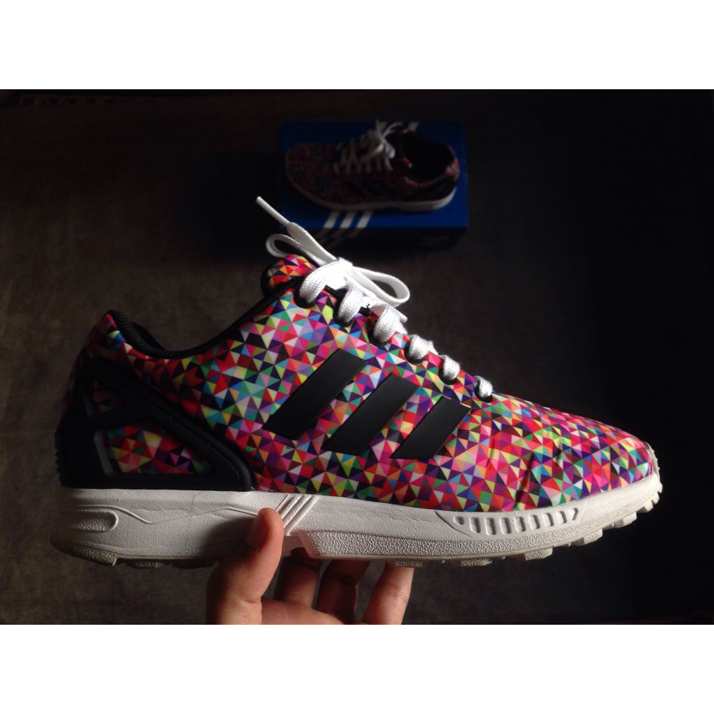 cheap for discount bf7df c283e Adidas Zx Flux Multicolor 'prism', Men's Fashion on Carousell