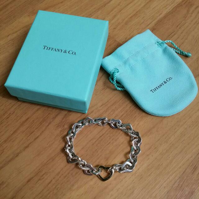 ce3f64d8ff2 Tiffany & Co Sterling Silver & 18k Gold Heart Bracelet. T&Co ...