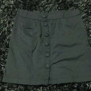 Grey High Waisted Skirt