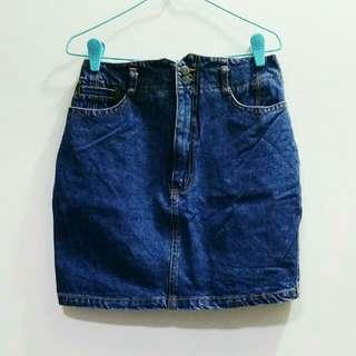 Vintage Dark Wash Denim Skirt - Pending